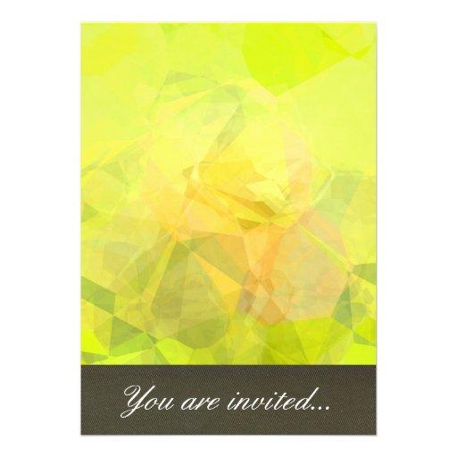 Polígono abstratos 143 convite personalizado