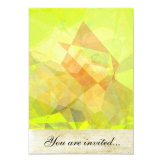 Polígono abstratos 144 convite 12.7 x 17.78cm