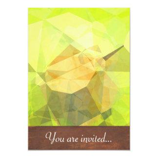 Polígono abstratos 145 convite 12.7 x 17.78cm