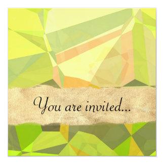 Polígono abstratos 146 convites