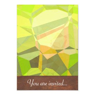 Polígono abstratos 146 convite 12.7 x 17.78cm