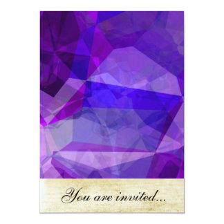 Polígono abstratos 147 convite 12.7 x 17.78cm
