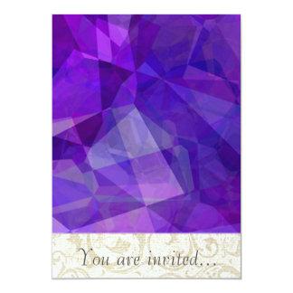 Polígono abstratos 149 convite personalizados