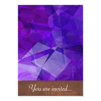 Polígono abstratos 151 convite 12.7 x 17.78cm