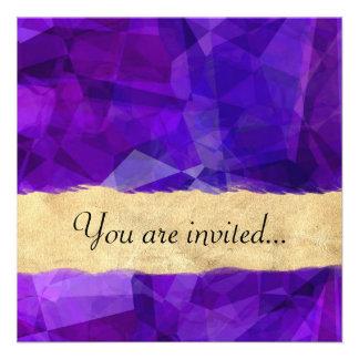 Polígono abstratos 151 convite personalizado