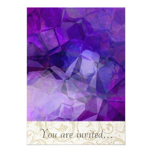 Polígono abstratos 153 convite personalizado