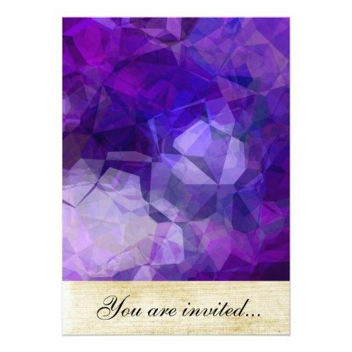 Polígono abstratos 154 convites personalizado