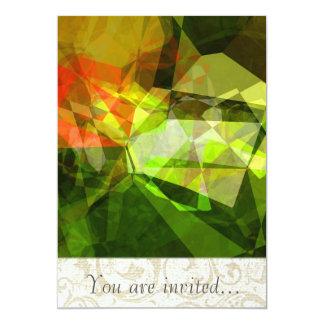Polígono abstratos 157 convite personalizados