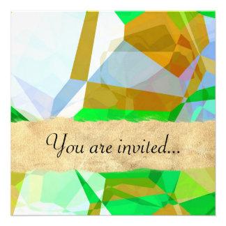 Polígono abstratos 165 convites personalizado