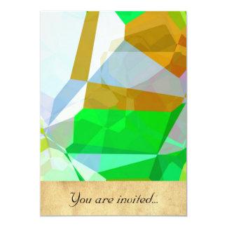 Polígono abstratos 165 convite 12.7 x 17.78cm