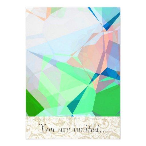 Polígono abstratos 167 convites