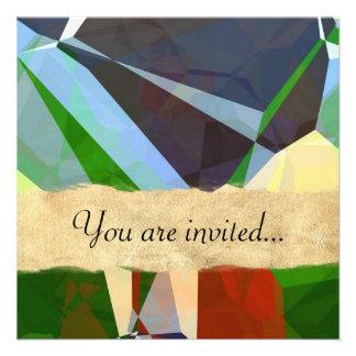 Polígono abstratos 168 convites