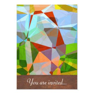 Polígono abstratos 169 convites personalizados