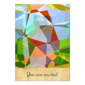 Polígono abstratos 169 convite 12.7 x 17.78cm