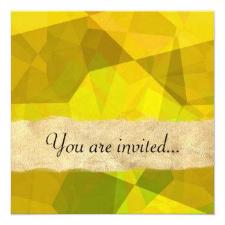 Polígono abstratos 172 convite personalizado