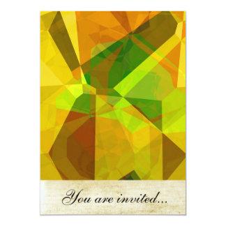 Polígono abstratos 173 convite 12.7 x 17.78cm