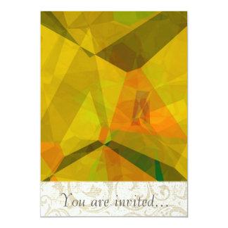 Polígono abstratos 176 convite personalizados