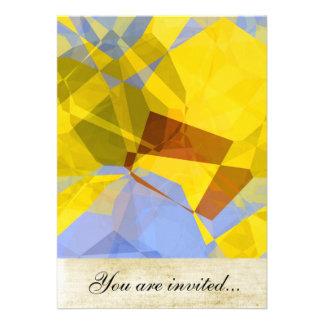 Polígono abstratos 177 convite personalizado