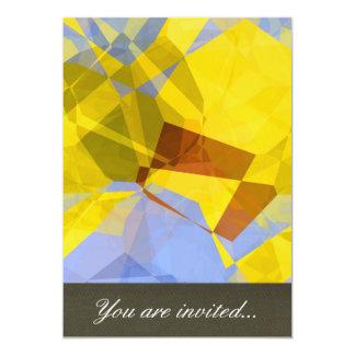 Polígono abstratos 177 convite 12.7 x 17.78cm