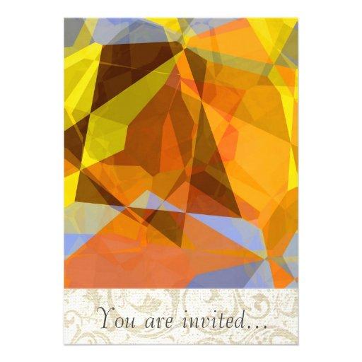 Polígono abstratos 178 convite personalizado