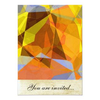 Polígono abstratos 178 convite 12.7 x 17.78cm