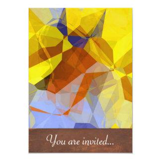 Polígono abstratos 179 convite personalizados