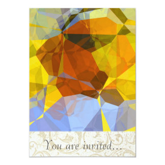 Polígono abstratos 180 convites personalizado
