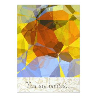 Polígono abstratos 180 convite 12.7 x 17.78cm