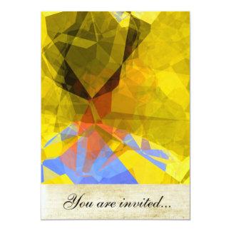 Polígono abstratos 181 convite 12.7 x 17.78cm