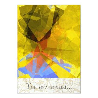 Polígono abstratos 181 convite personalizado