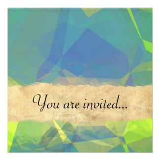 Polígono abstratos 182 convites personalizado