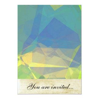 Polígono abstratos 182 convite personalizados