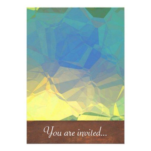 Polígono abstratos 184 convite personalizado