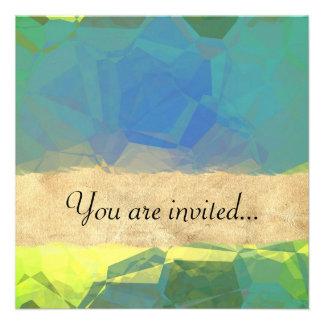 Polígono abstratos 184 convite