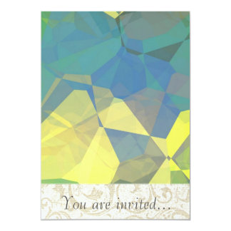 Polígono abstratos 186 convite 12.7 x 17.78cm
