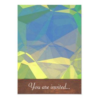 Polígono abstratos 187 convite personalizado