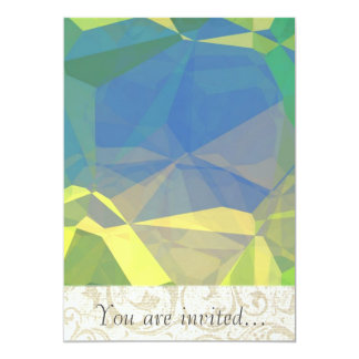 Polígono abstratos 187 convite 12.7 x 17.78cm