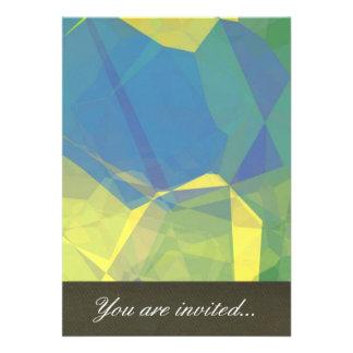 Polígono abstratos 188 convite