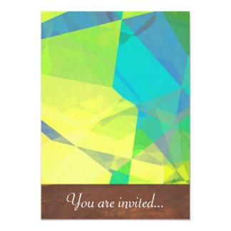 Polígono abstratos 190 convite personalizados