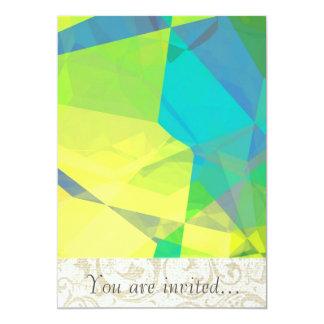 Polígono abstratos 190 convite 12.7 x 17.78cm