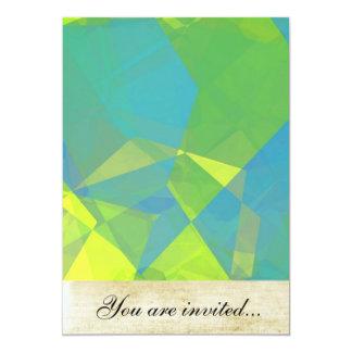 Polígono abstratos 191 convite personalizado