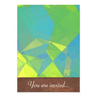 Polígono abstratos 191 convite 12.7 x 17.78cm