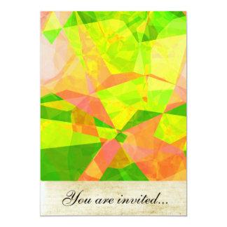 Polígono abstratos 192 convite 12.7 x 17.78cm