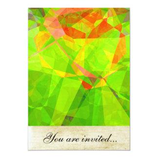 Polígono abstratos 196 convites personalizado