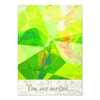 Polígono abstratos 197 convites personalizados