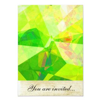 Polígono abstratos 197 convite personalizados