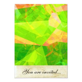 Polígono abstratos 198 convite 12.7 x 17.78cm