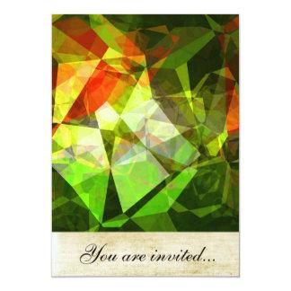 Polígono abstratos 19 convites personalizados