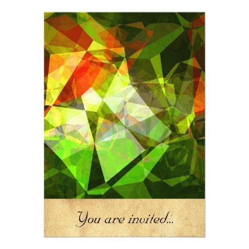 Polígono abstratos 19 convite personalizado