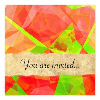 Polígono abstratos 200 convites